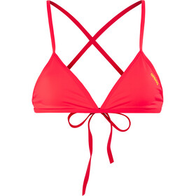 arena Feel Top Bikini Triangular Mujer, fluo red-yellow star